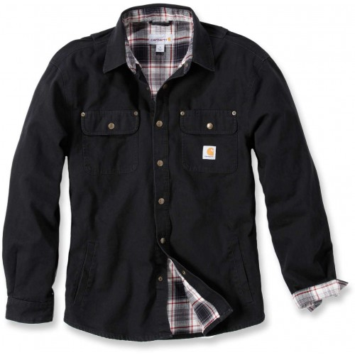 Weathered Canvas Shirt Jacket