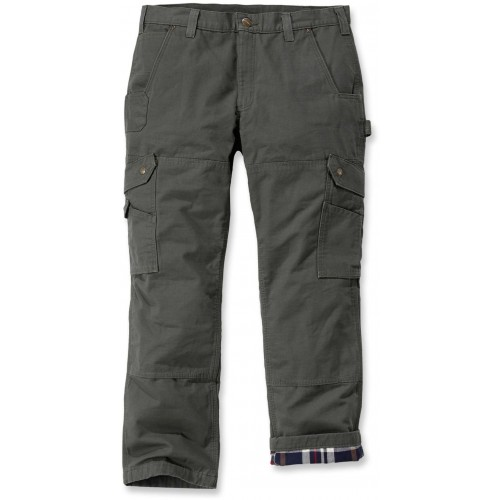Ripstop Cargo Work Pant Flannel Lined
