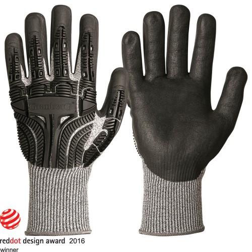 Handskar i Typhoon® med skärskyddsnivå 5 och slagskydd, 6 par