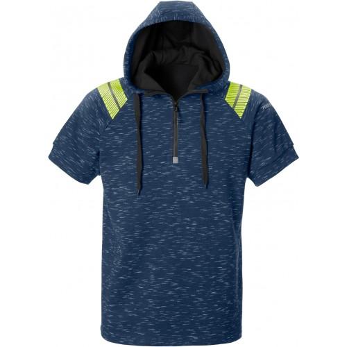 Friwear kortärmad sweatshirt med huva 7460 MELA
