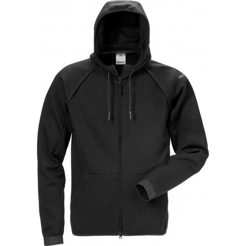 Sweatshirt-jacka med huva 7462 DF