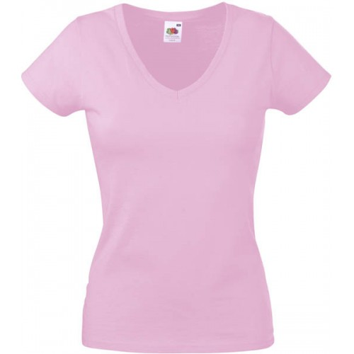 Lady Fit Valueweight V-neck T 10 st