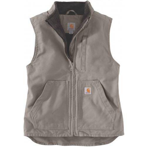 Sherpa Lined Mock Neck Vest
