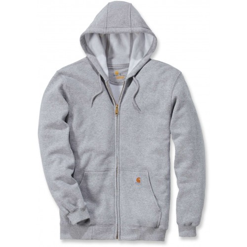 Midweight Hooded Zip Front Sweatshirt