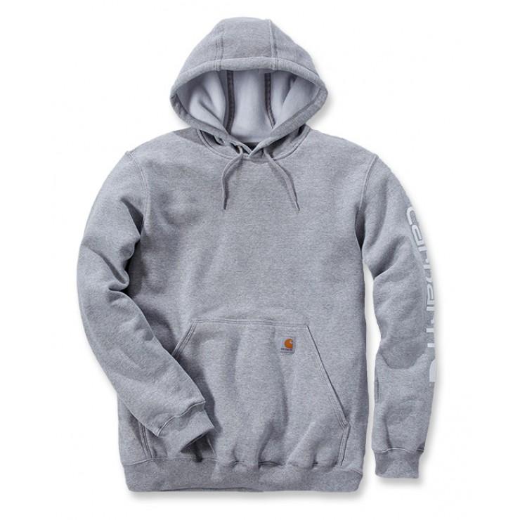 Midweight Sleeve Logo Hooded Sweatshirt